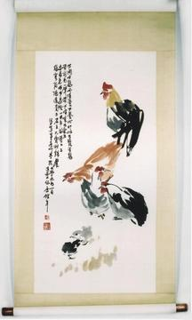 Product: Roosters and Chicks painting