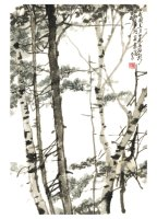 Product: Birches note card