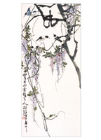 Product: Wisteria in Early Spring note cards