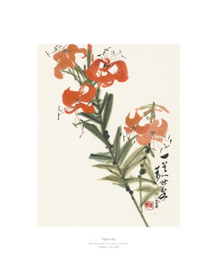 Product: Tiger Lily print