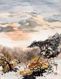Painting by Charles Chu: Arboretum Sunset