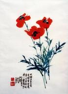 Painting by Charles Chu: Poppies