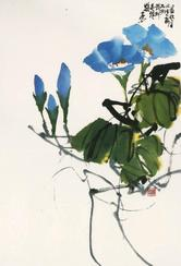 Painting by Charles Chu: Morning Glory
