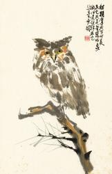 Painting by Charles Chu: Owl