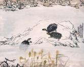 Painting by Charles Chu: Turtles